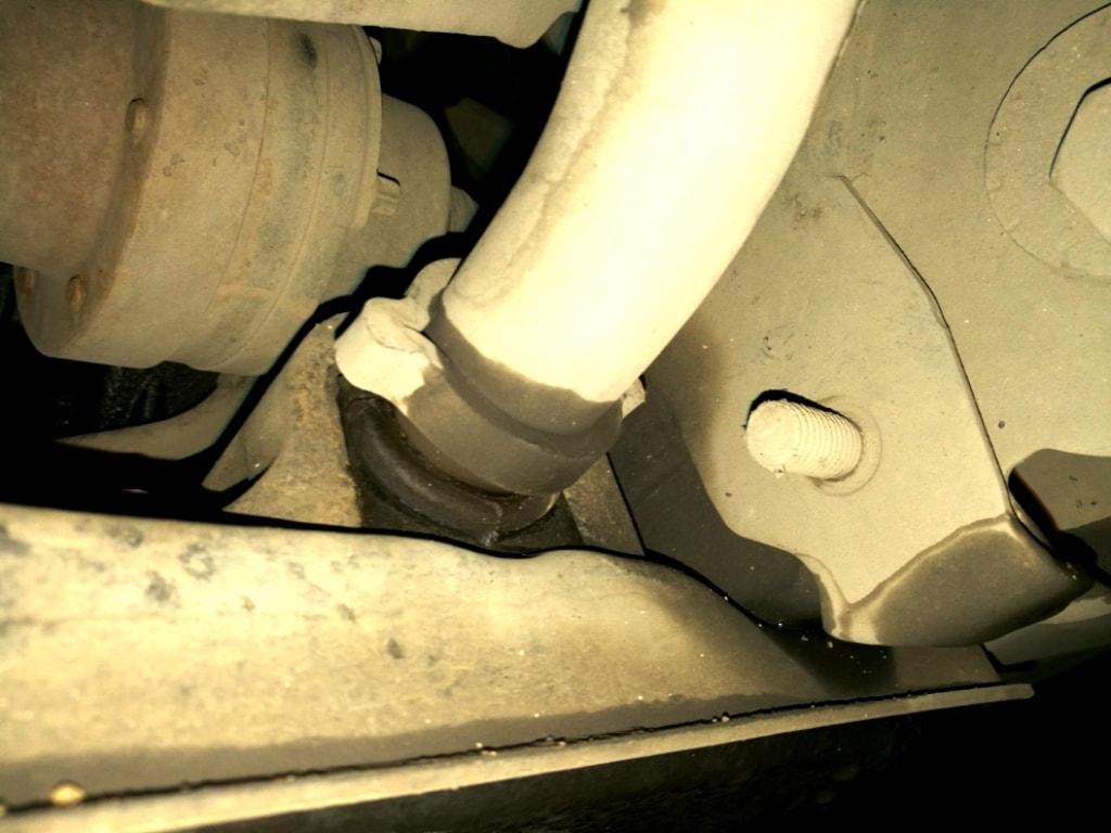 замена втулок стабилизатора land rover